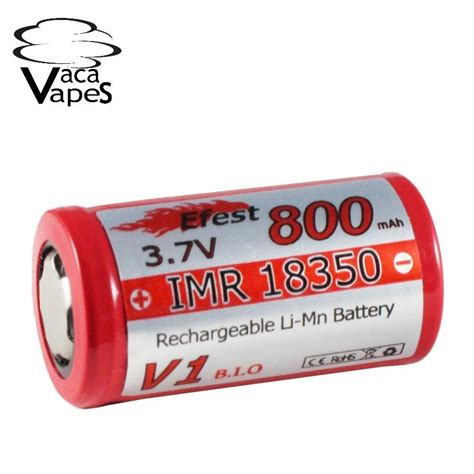 Efest Imr 18350 Battery 700mah 3 7v 10 5a With Flat Top efest imr 18350 800mah 3 7v high drain flat top batteries vacavapes