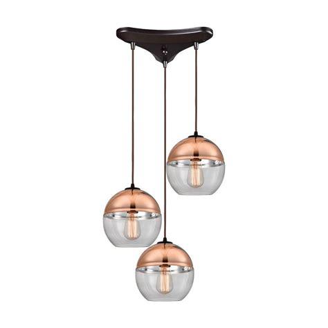 Multi Globe Pendant Light Elk Lighting Revelo Rubbed Bronze Multi Light Pendant With Globe Shade 10490 3