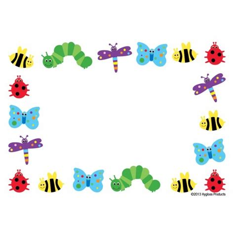 printable insect name tags cute and colorful quot bug quot border self adhesive nametags