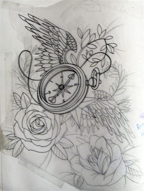 tattoo design sketchbook compass tattoos designs ideas and meaning tattoos for you