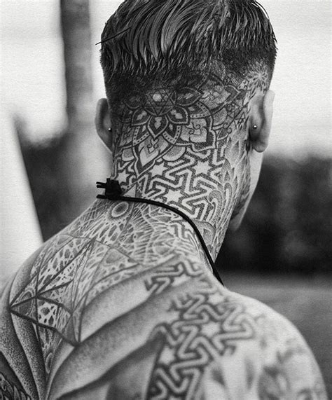 back of neck tattoos for men 1000 ideas about mandala on