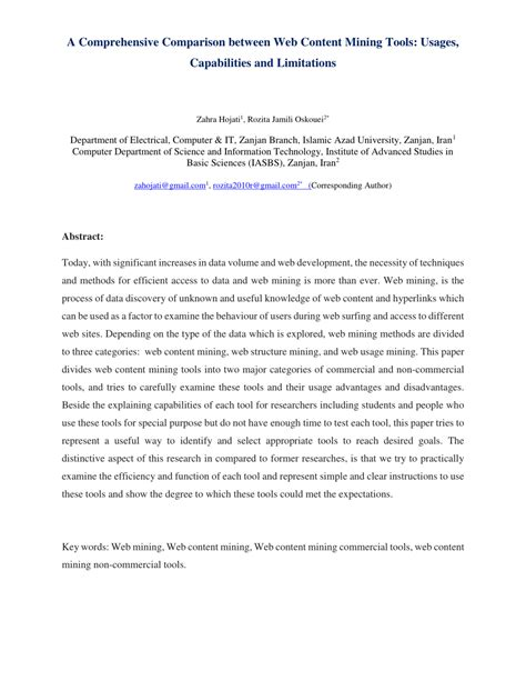 (PDF) A Comprehensive Comparison between Web Content