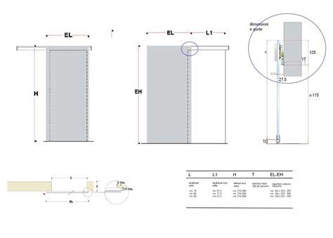 misure porte awesome dimensioni porte scorrevoli contemporary