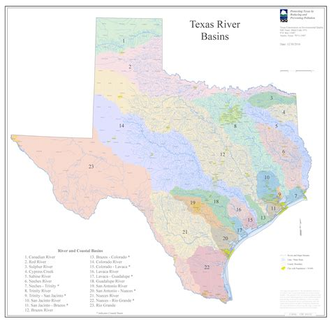 texas river map texas rivers map free