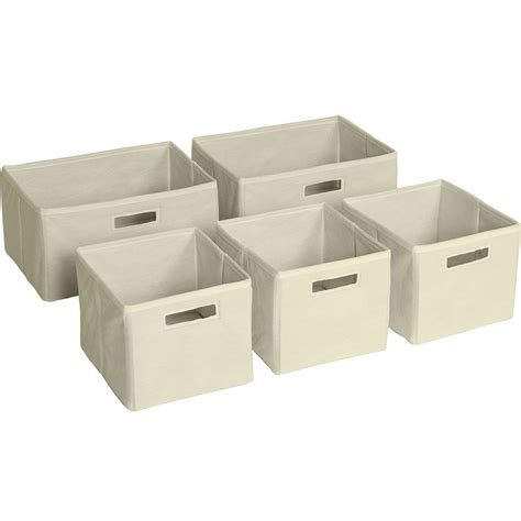 shelf storage bins set of 5 in shelf bins