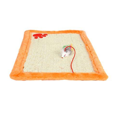 pet cat kitten scratch pad large plush scratcher mat