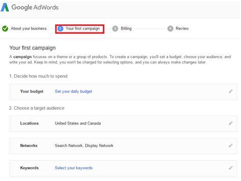 membuat akun google dengan cepat 5 langkah cara membuat akun google adwords dengan mudah