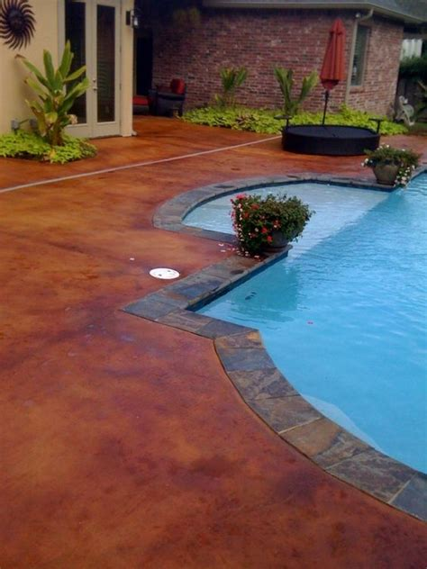 stained concrete pool deck i think this color is pinto by proline for me stained