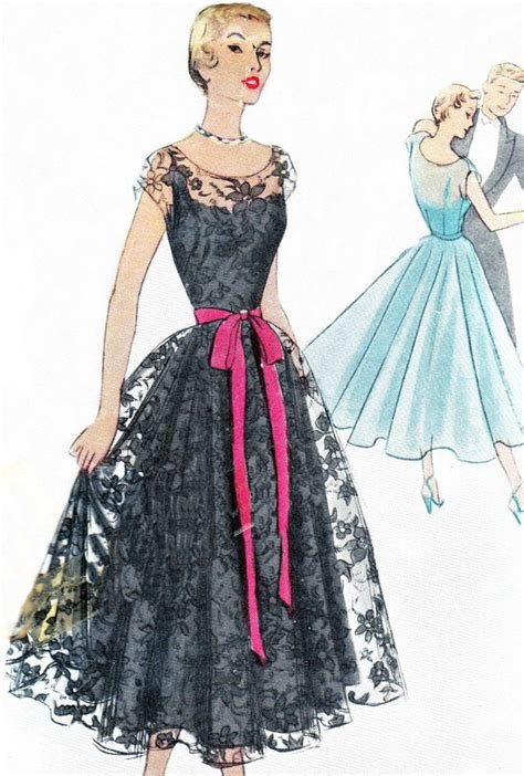 dress pattern gown 1950s evening dress pattern mccall 8035 full skirt evening