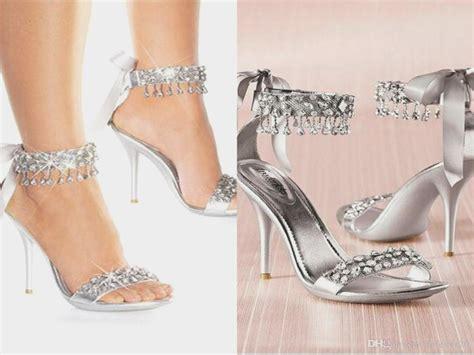 Wedding Shoes Rhinestones by New Fashion High Heels Silver Rhinestone Shoes Wedding