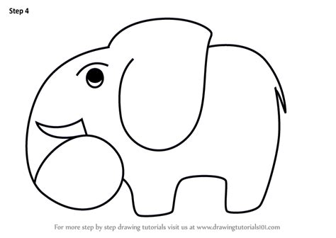 Drawing 4 6 Draw by Step By Step How To Draw A Elephant Using Number 6