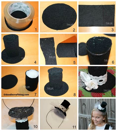 How To Make A Small Hat Out Of Paper - diy mini mad hatter hat www pixshark images