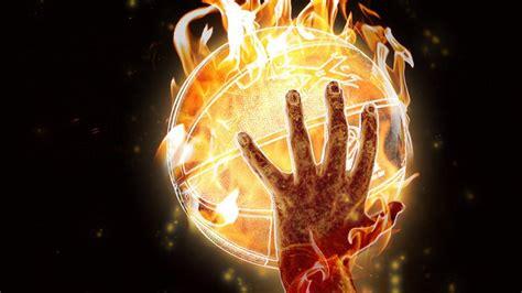 fire hands elements balls basketball  wallpaper