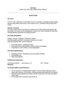 resume for bartender position descriptions exles of personification bartender resume ingyenoltoztetosjatekok com