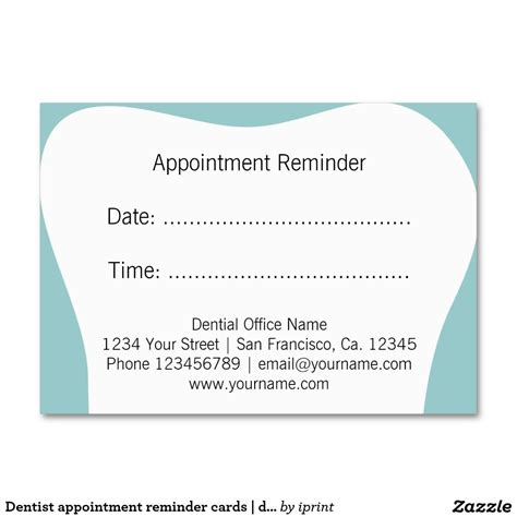 Dental Recall Card Templates by Business Card Dentist Appointment Dental And Business Cards