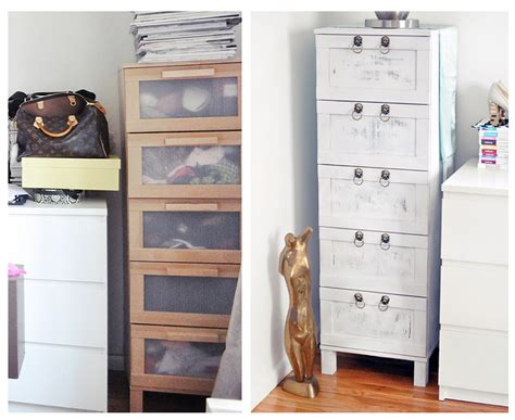 boring birch chest of drawers makeover from drab to