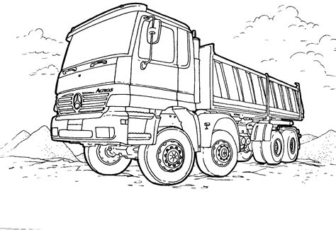 Coloring Page Truck by Semi Truck Race Coloring Pages