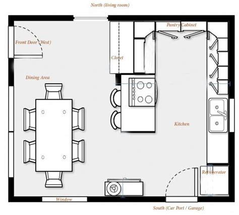 cocinas planos planos de cocinas peque 241 as con comedor casa