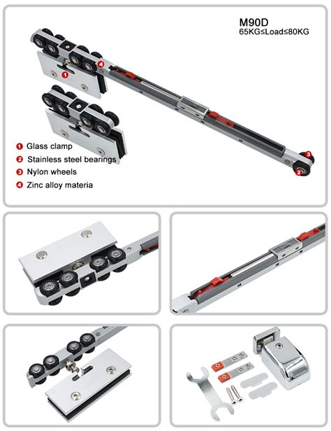 Sliding Glass Door Tracks And Rollers M90d Hanging Sliding Glass Door Soft Closing Track Roller Replacement Parts China M90d Hanging