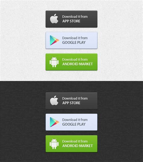 android free apps app buttons psd android