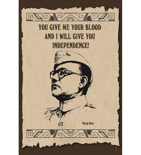 Independent Kitchen Designers by Shopisky Poster Inspirational Quotes Of Netaji Subhash