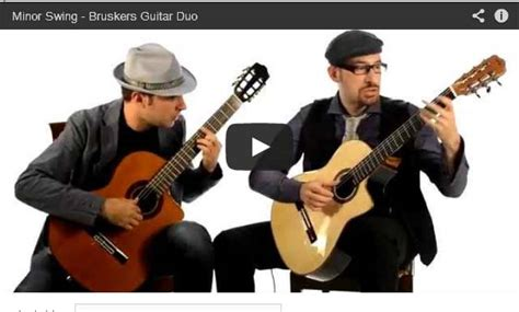 minor swing guitar lesson minor swing classical guitar duo classical guitar music