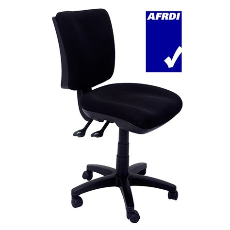 Fabric Office Chairs by Pivot Medium Back Ergonomic Office Chair Black Fabric