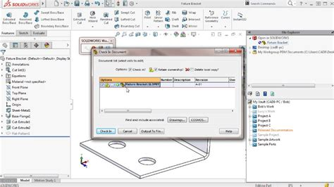 tutorial solidworks pdm solidworks 2016 pdm professional training course