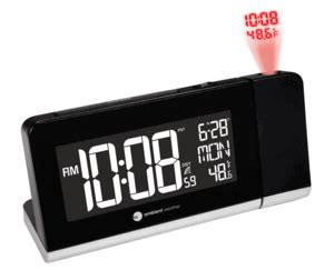 ambient weather rc 8465 projection atomic alarm clock with 256 color changing ambient