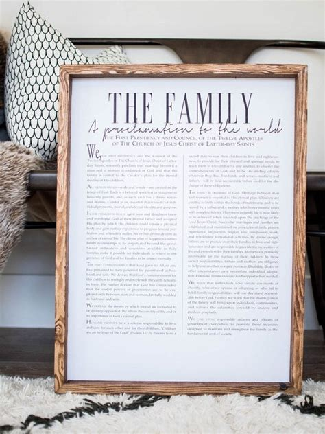 lds home decor best 25 family proclamation ideas on pinterest