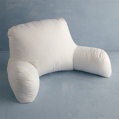 bed tv pillow down free fill bed rest pillow medium the company store