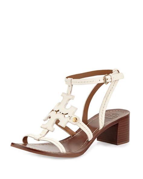 burch phoebe sandal burch phoebe leather logo sandal ivory neiman