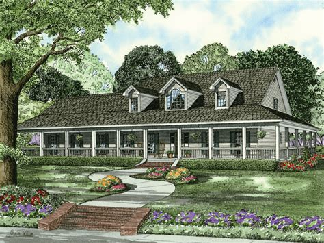farmhouse with wrap around porch plans newberry terrace farmhouse plan 055d 0582 house plans