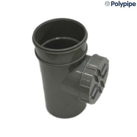 Polypipe Plumbing by Polypipe Solvent Soil And Vent 110mm Access Pipe