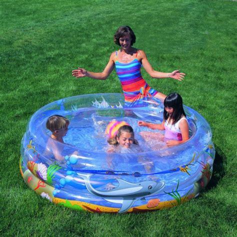 Kasur Tiup Intex Dura Beam High Quality detil produk kolam transparent sea pool