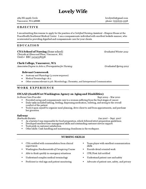 What Does Coursework In A Resume Sle Resume To Apply For The Position Of Certified