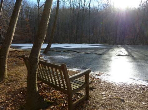 blue bench trails gone hikin morristown national historical park nj