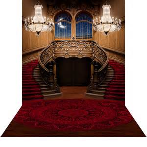 Chandelier Catalog Double Staircase Red Photo Backdrops And Backgrounds