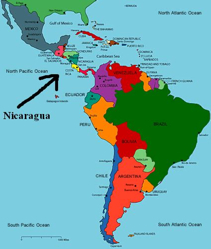 nicaragua location on world map about me s