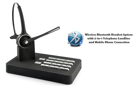 wireless bluetooth headset system 2 in 1