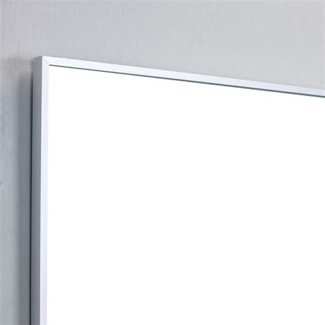 shop diamond freshfit britwell 25 in x 34 in cream frame bathroom wall mirror eviva sax 48 quot brushed metal