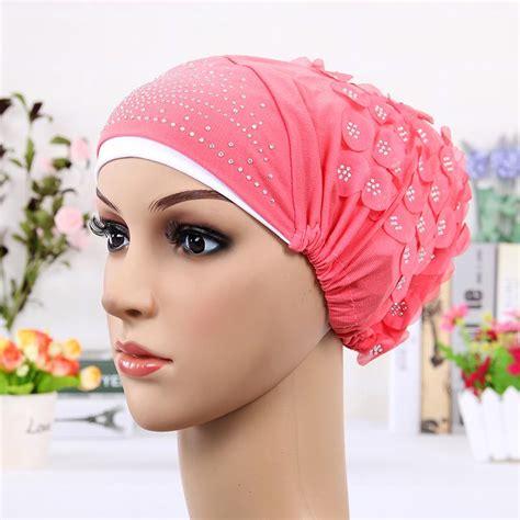 Flower Muslim מוצר 2017 new design islamic scarves wraps caps womens muslim inclusive cap