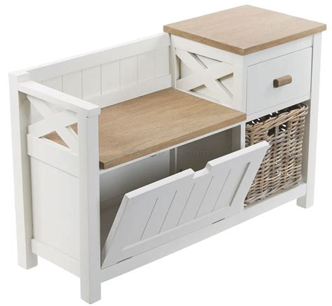 holtom storage bench hall storage bench with baskets holtom antique white