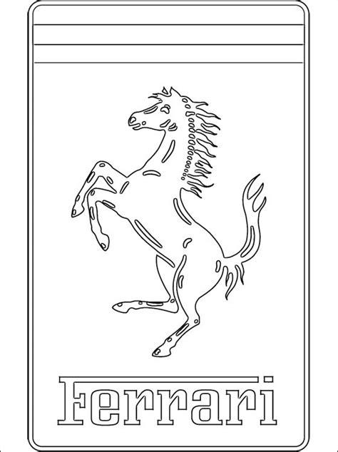 ferrari logo sketch coloriage avec le logo ferrari coloriage 224 imprimer gratuit