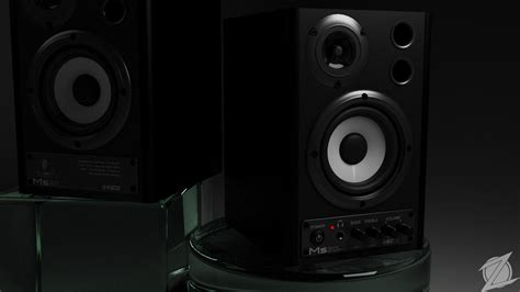 Speaker Monitor Behringer Ms 16 Original Diskon behringer ms20 studio monitor 3d model
