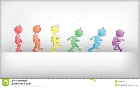 imagenes en movimiento niños seres humanos abstractos en vector del movimiento