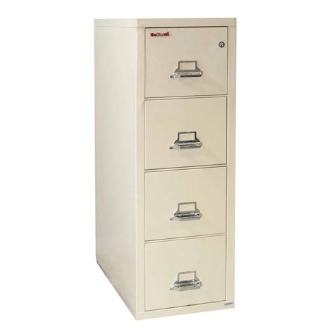 fireking used letter sized 4 drawer vertical file cabinet