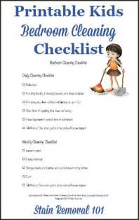 bedroom cleaning checklist help kids know expectations 1000 ideas about room cleaning tips on pinterest