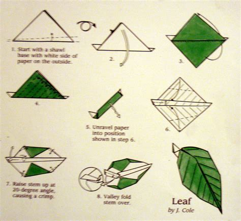 Origami Flower Leaves - origami leaf origami leaf card de boom in