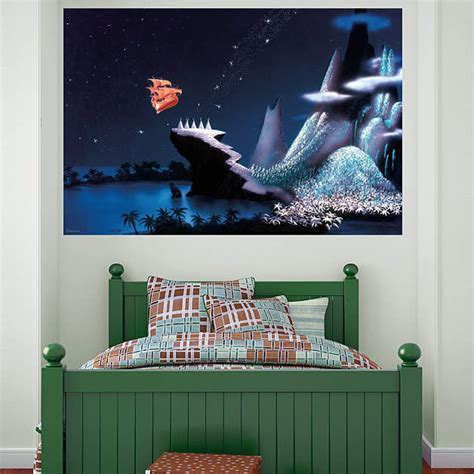 peter pan home decor neverland mural wall decal shop fathead 174 for peter pan decor